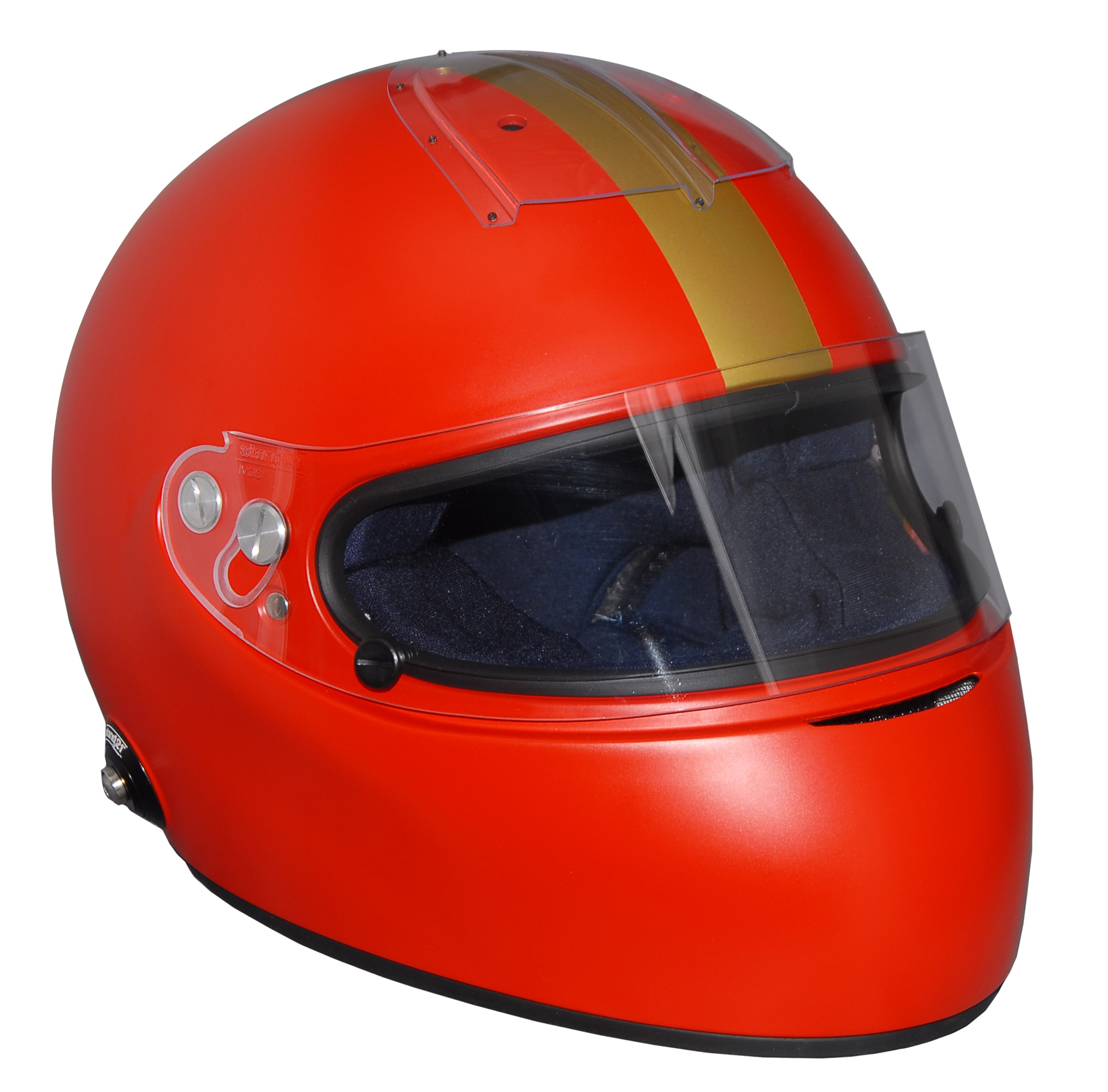 Stock red Vintage IVOS-Double Duty helmet with visor