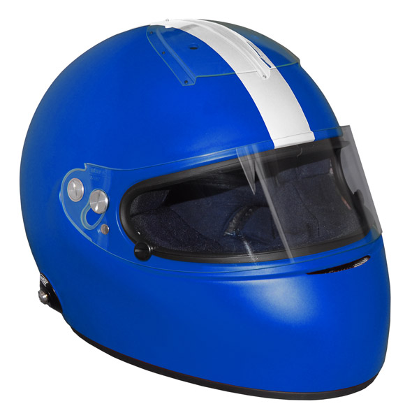 Stock blue Vintage IVOS-Double Duty helmet with visor