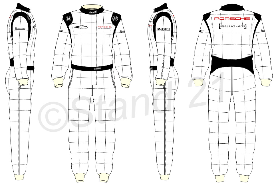 White GT4 Clubsport racing suit